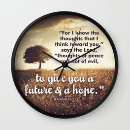 Jeremiah 29:11 Wall Clock