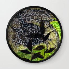 flow flower flow Wall Clock