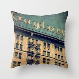 1924 Gaylord Apartments Vintage Neon Sign  Throw Pillow