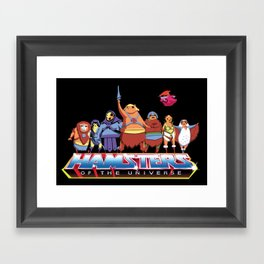 Hamsters Of The Universe Framed Art Print