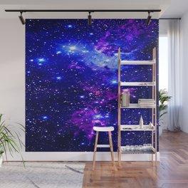 Fox Fur Nebula Galaxy blue purple Wall Mural