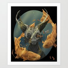 Fate fish  Art Print
