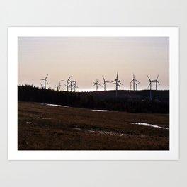 Windmill Ridge Art Print
