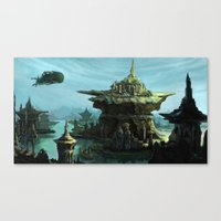uncharted Canvas Prints featuring Uncharted by Henriiです~