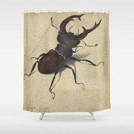 Stag Beetle - Albrecht Durer Shower Curtain