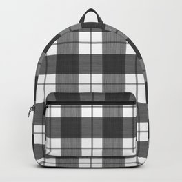 Black  and White Buffalo Plaid Backpack
