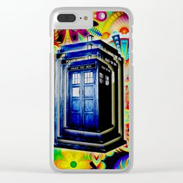 Tardis Colorfull Clear iPhone Case