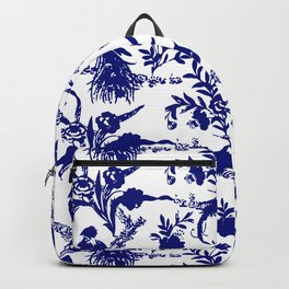 Royal french navy peacock Backpack