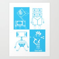 robots Art Prints featuring Robots by Studio Teer
