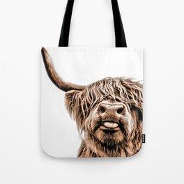 Funny Higland Cattle Tote Bag