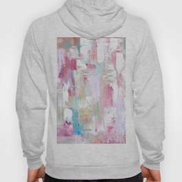 Pink Abstract Painting Hoody