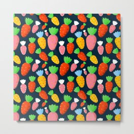 Carrots not only for bunnies - seamless pattern Metal Print