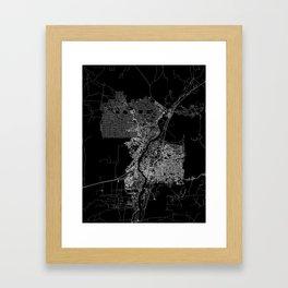Albuquerque map New Mexico Framed Art Print