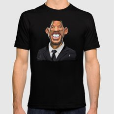 Celebrity Sunday ~ Will Smith Black Mens Fitted Tee X-LARGE