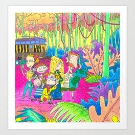 The Wild Thornberrys Nickelodeon 90s Trippy forest Art Print
