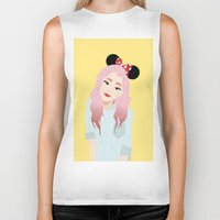 minnie Biker Tanks featuring Minnie Ears by lulu ramos