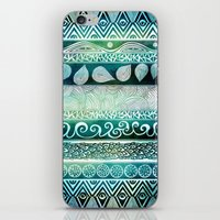 aurora iPhone & iPod Skins featuring Dreamy Tribal Part VIII by Pom Graphic Design