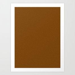 Chocolate Brown Pixel Dust Art Print