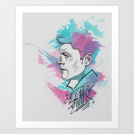 Dean Winchester   a GED and give 'em hell attitude Art Print