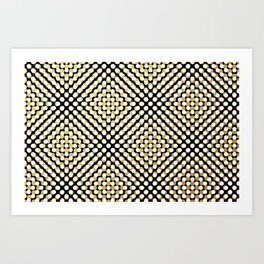 Hypnotic dots Art Print