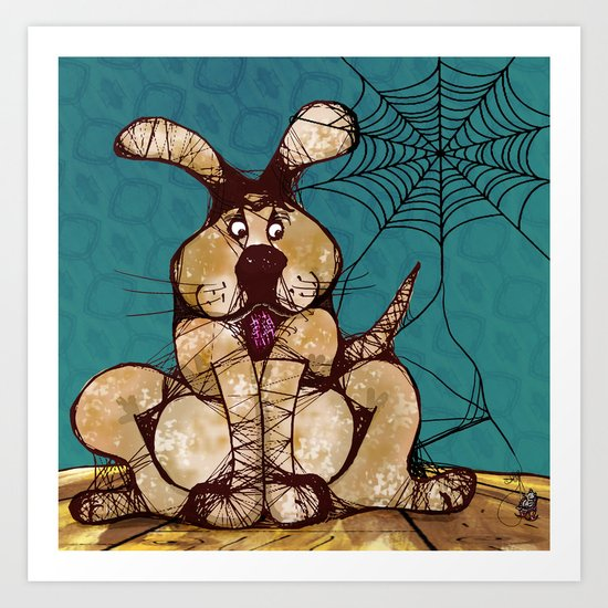 In a game of Catch, the Spider always wins. Art Print