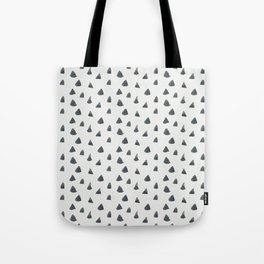 Geometrical black white hand painted watercolor triangles Tote Bag