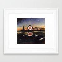 boardwalk empire Framed Art Prints featuring Boardwalk by Leon T. Arrieta