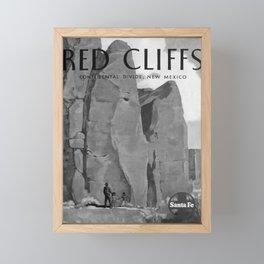 retro retro Red Cliffs poster Framed Mini Art Print