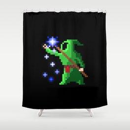wizard green Shower Curtain