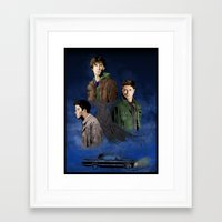supernatural Framed Art Prints featuring Supernatural by FALema