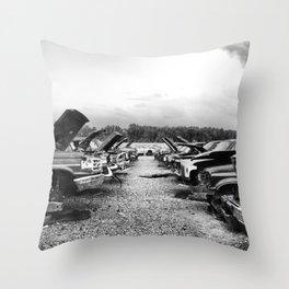 Junk Yard Throw Pillow