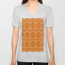 Lines in Butterscotch Unisex V-Neck