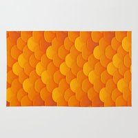 goldfish Area & Throw Rugs featuring Goldfish by Screen Candy
