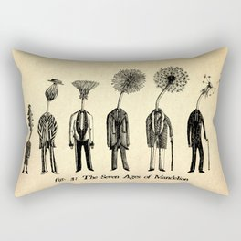 The Seven Ages of Mandelion Rectangular Pillow