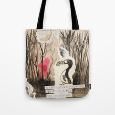 Little Red and Great Auk Tote Bag