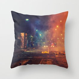 Nights of protest - Venezuela Throw Pillow