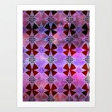 Bohemian Night Sky -Purple Art Print