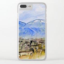 Snow Capped Vesuvio Clear iPhone Case