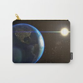 Night Lighted Earth from space Carry-All Pouch