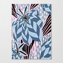BAYAMO: BOLERO BLUES, Art Deco Tropical Canvas Print