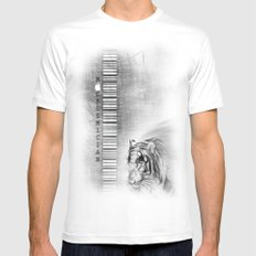 MACademician MEDIUM White Mens Fitted Tee