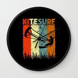 Kitesurf Retro Gift Idea Wall Clock