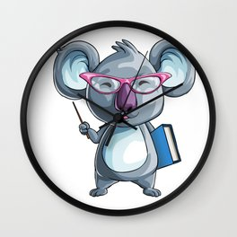 Koala Teacher Kids Pre-School Elementary Wall Clock