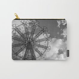 Coney Island Parachute Jump. Black and white photography Carry-All Pouch