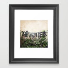 Locals Only - Vancouver, BC Framed Art Print
