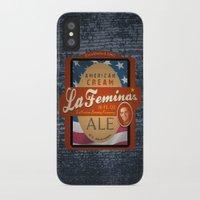 ale giorgini iPhone & iPod Cases featuring American Cream Ale by La Femina Brewing Co.