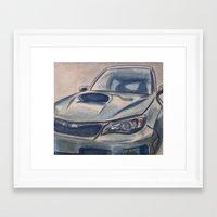 subaru Framed Art Prints featuring Subaru Impreza by Craig Holland Illustration