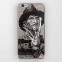 freddy krueger iPhone & iPod Skins featuring freddy krueger by calibos