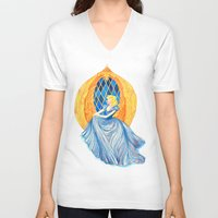cinderella V-neck T-shirts featuring Cinderella by Lydia Joy Palmer