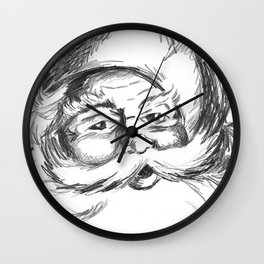 Jolly St. Nick Wall Clock